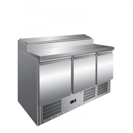 Saladeta refrigerata, capacitate 400 litri, inox, dimensiuni 1365x700x1010hmm
