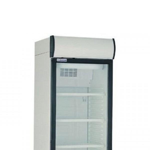 Vitrina frigorifica pentru expunere bauturi, capacitate 382 litri, gaz refrigerant R600, aluminiu, dimensiuni 595x650x2000mm, alimentare 220V, putere 200W, greutate 73.5kg