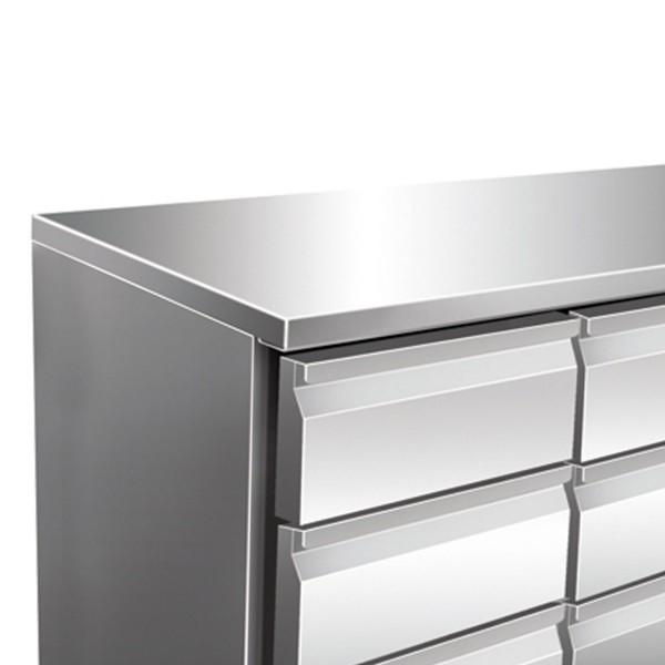 Masa rece, 6 sertare, capacitate 314 litri, dimensiuni 1360x700x860mm